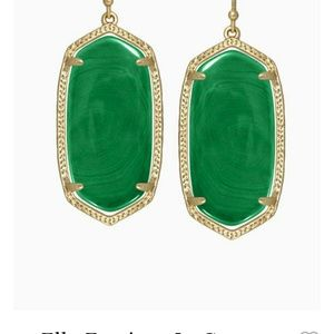Kendra Scott Elle Earrings - Emerald Green
